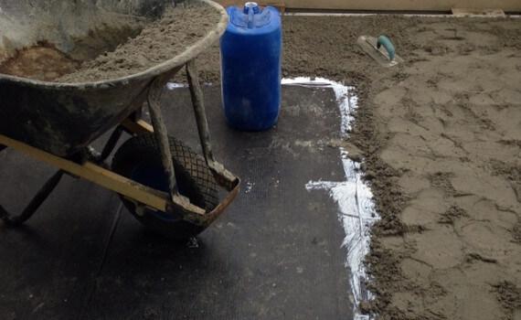 sand screeding cement